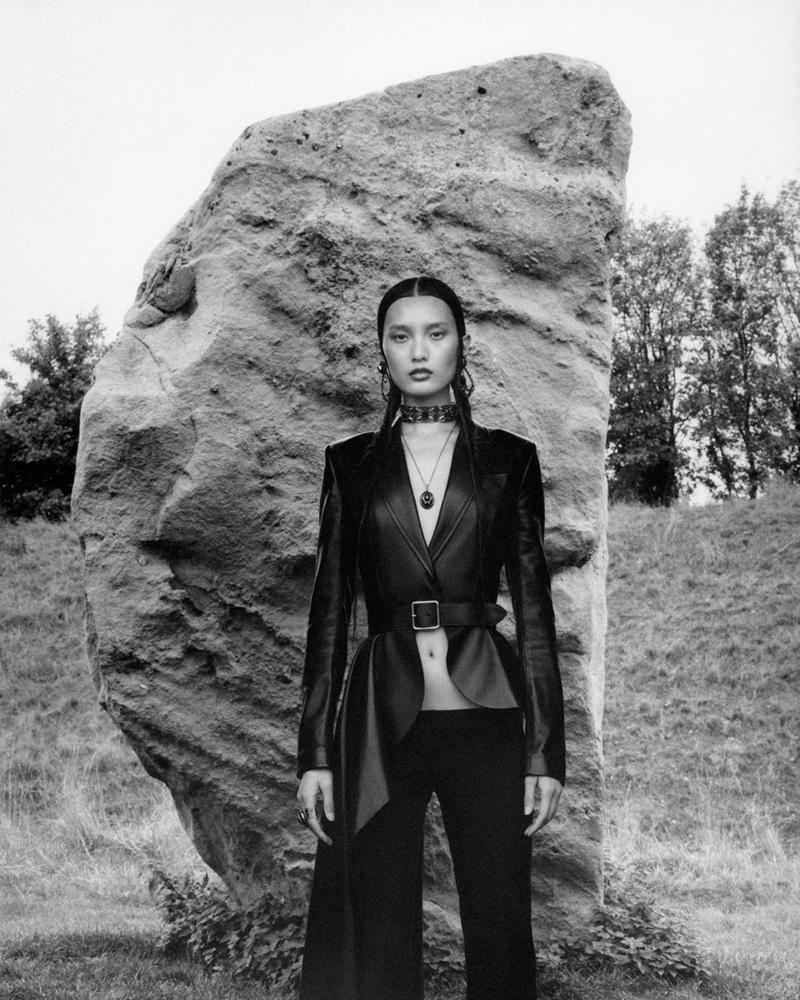 Chunjie Liu stars in Alexander McQueen spring-summer 2019 campaign