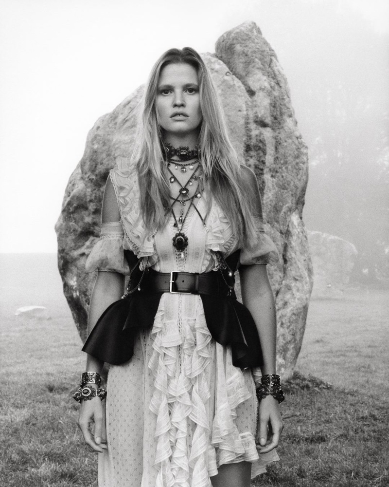 Lara Stone fronts Alexander McQueen spring-summer 2019 campaign