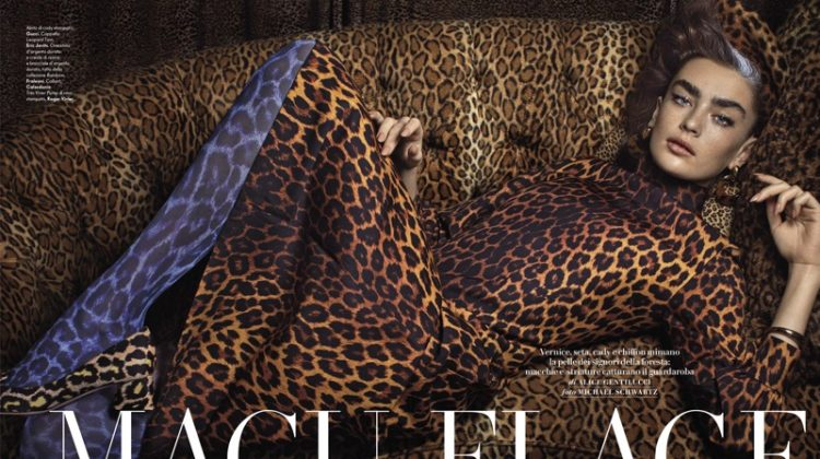 Alisha Nesvat Poses in Wild Patterns for Vanity Fair Italy