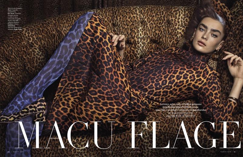 Alisha Nesvat Poses in Wild Patterns for Vanity Fair Italy