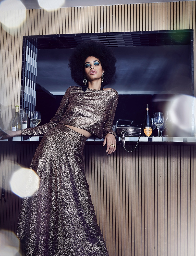 Andrea Huther is a Disco Queen in Grazia Netherlands