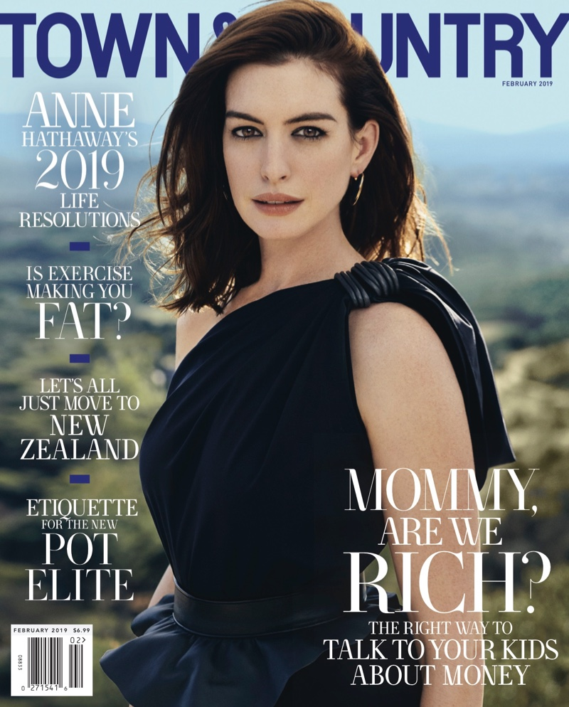Anne Hathaway Town & Country 2019 Cover Photoshoot