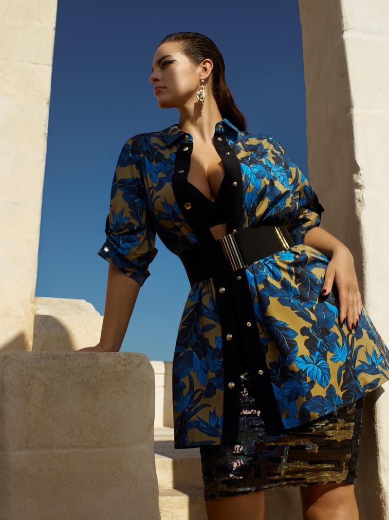 Ashley Graham wears bold prints in Marina Rinaldi spring-summer 2019 campaign