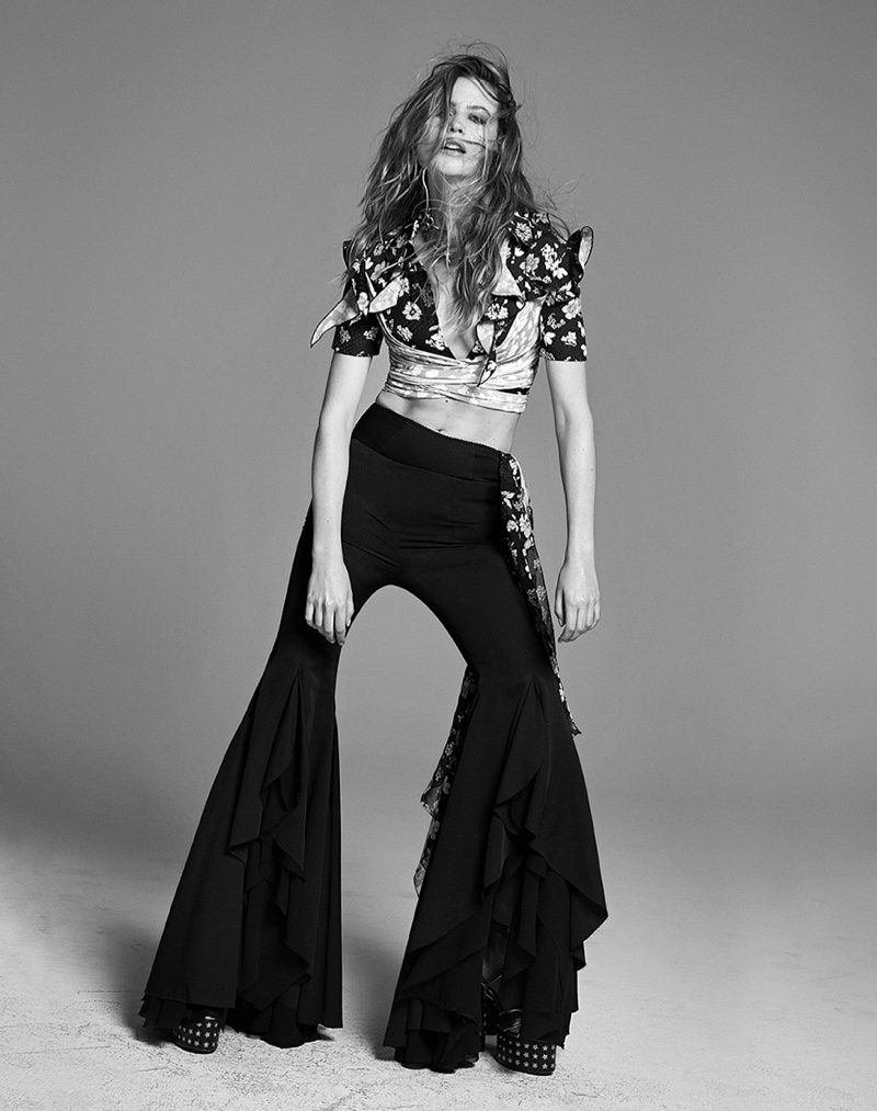 Behati Prinsloo Embraces Rock & Roll Style for Marie Claire Italy