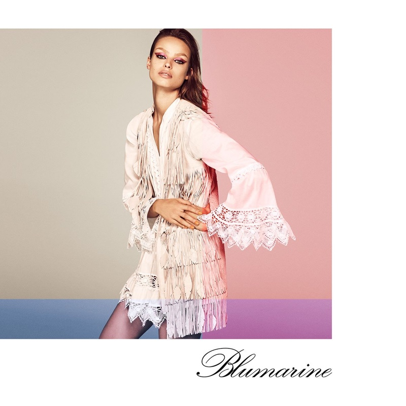 Blumarine features fringe and lace in spring-summer 2019 campaign
