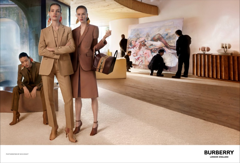 Sora Choi, Natalia Vodianova and Rianne van Rompaey appear in Burberry spring-summer 2019 campaign