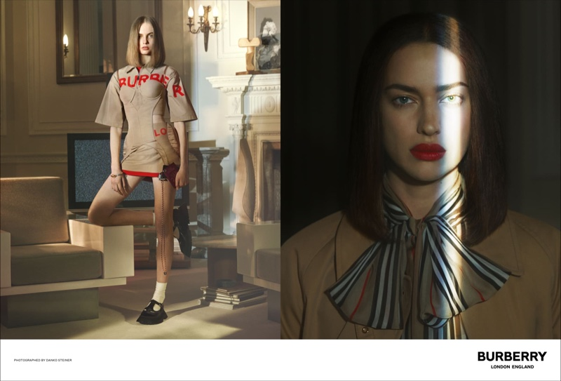 Fran Summers and Irina Shayk star in Burberry spring-summer 2019 campaign