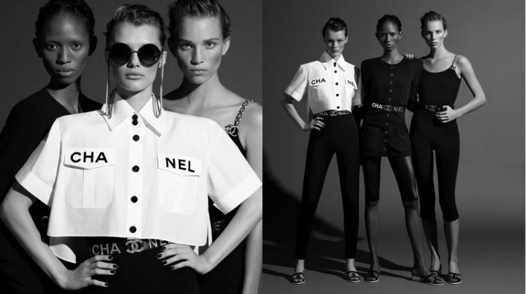 Rebecca Leigh Longendyke, Adesuwa Aighewi and Kris Grikaite stars in Chanel spring-summer 2019 campaign