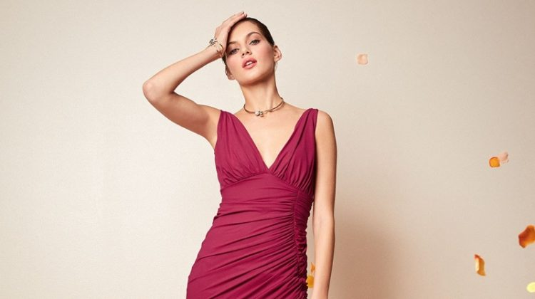 Chiara Boni La Petite Robe Dory V-Neck Sleeveless Dress with Asymmetric Hem $795