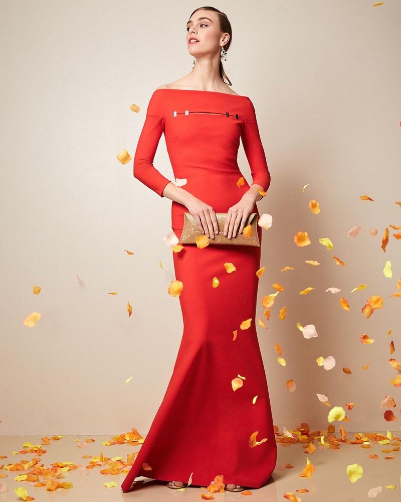 Chiara Boni La Petite Robe Sabira Off-the-Shoulder Trumpet Gown $995