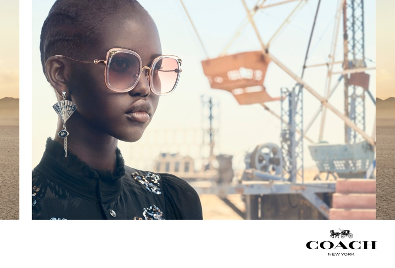 Adut Akech fronts Coach eyewear spring-summer 2019 campaign