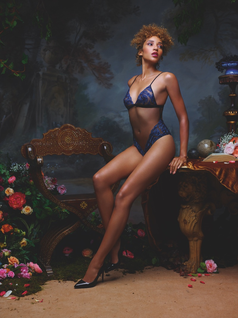 Coco de Mer features Thalia lingerie in spring-summer 2019 advertising campaign. Photo: Rankin