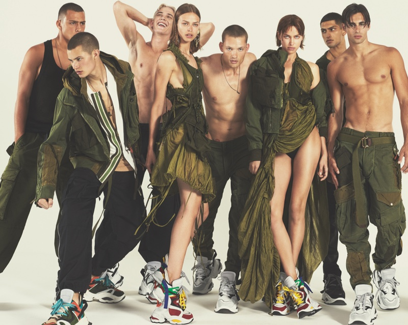 Models pose for DSquared2 spring-summer 2019 campaign