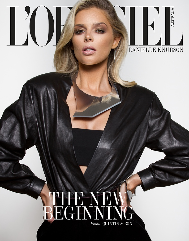 Danielle Knudson Wears Elegant Looks in L'Officiel Australia