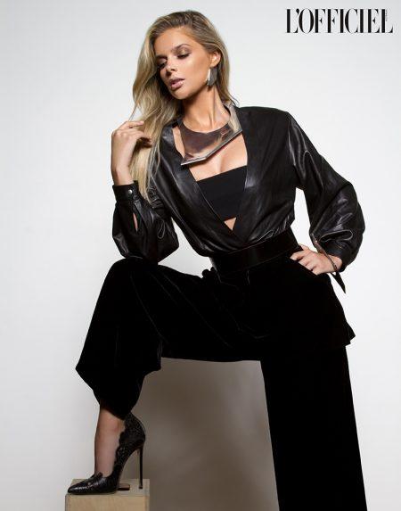 Danielle Knudson Wears Elegant Looks in L'Officiel Australia