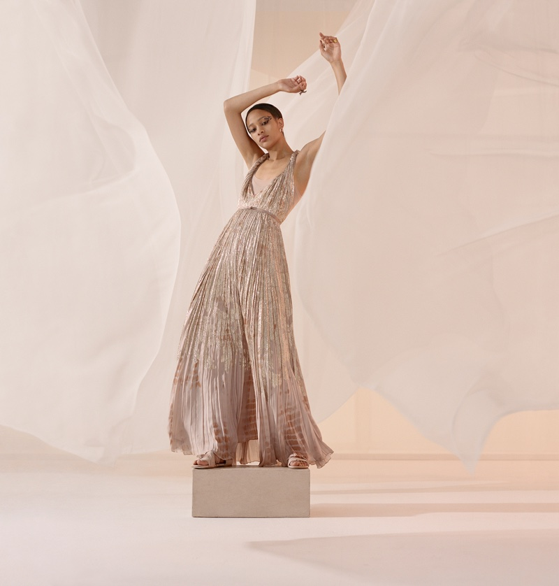 Selena Forrest wears a dreamy dress in DIor spring 2019 campaign
