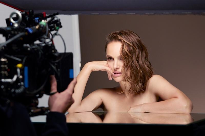 Natalie Portman behind the scenes on Dior makeup photoshoot