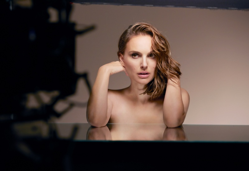 BEHIND THE SCENES: Natalie Portman poses topless on set of Dior Forever foundation shoot