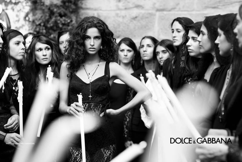 Chiara Scelsi appears in Dolce & Gabbana spring-summer 2019 campaign. Photo: Giuseppe Tornatore