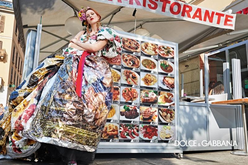 Karen Elson stars in Dolce & Gabbana spring-summer 2019 campaign. Photo: Branislav Simoncik