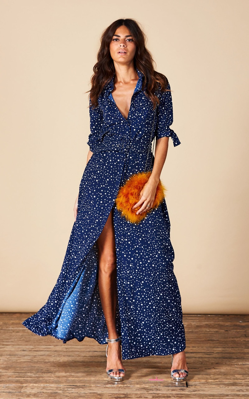 Dove Navy Star Dress