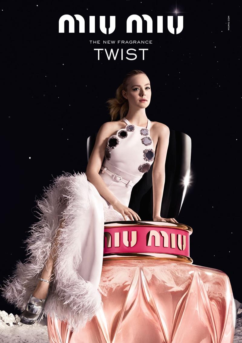 Elle Fanning Fronts Miu Miu 'Twist' Fragrance Campaign