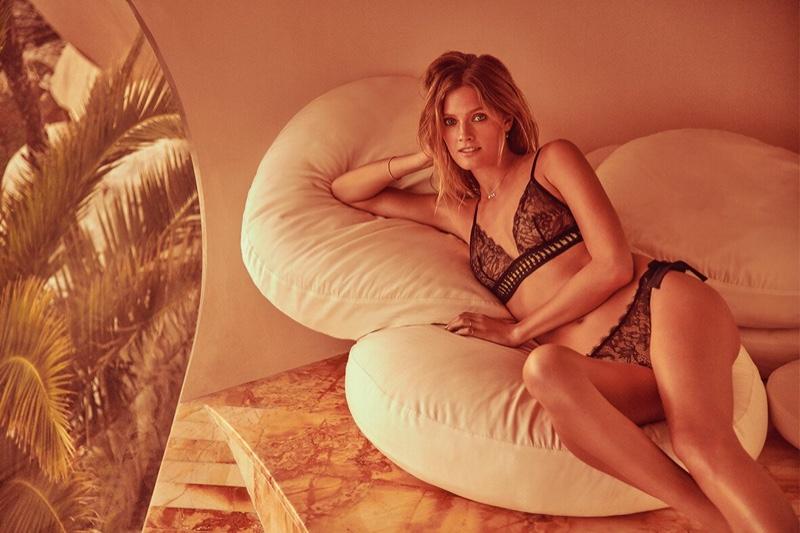 Constance Jablonski flaunts her body in Etam Lingerie spring-summer 2019 campaign