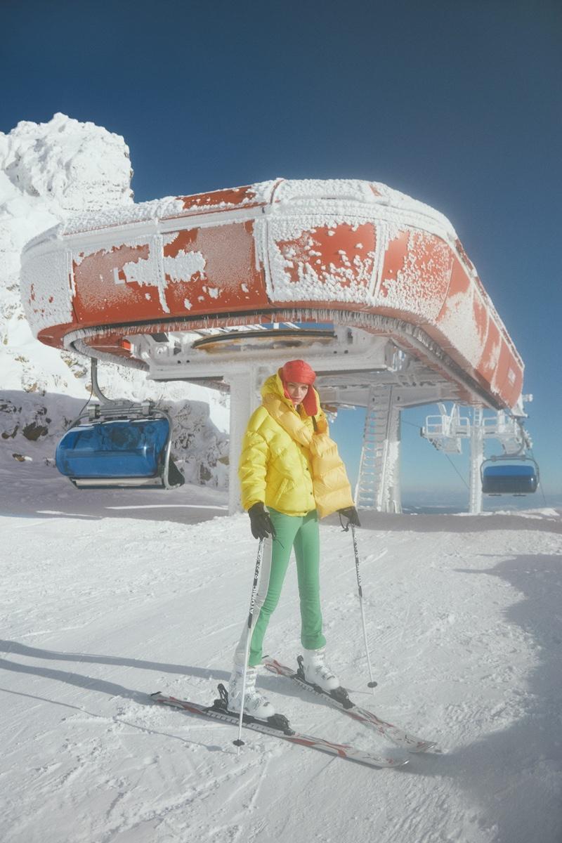 Eva Klimkova Models Winter Ski Style for ELLE Turkey