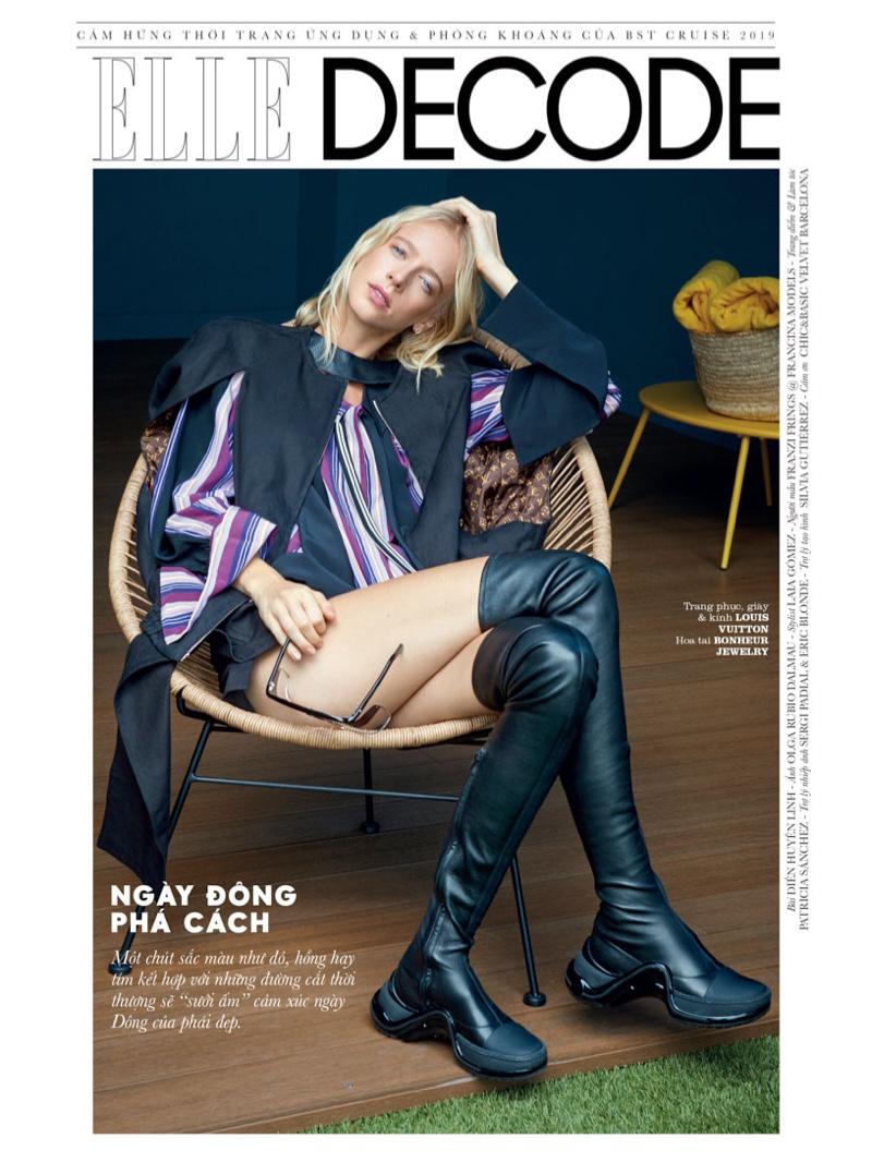 Franzi Frings Models Elegant Styles for ELLE Vietnam