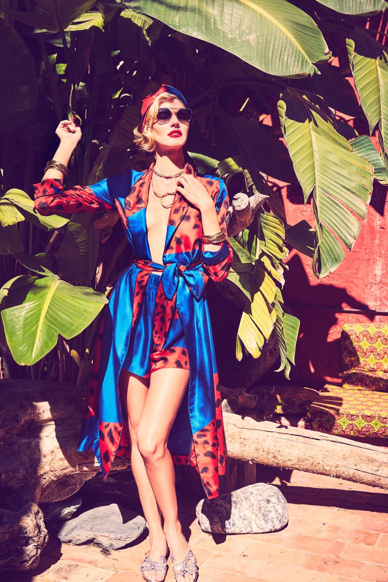 Colorful prints stand out in the Georgine spring-summer 2019 campaign