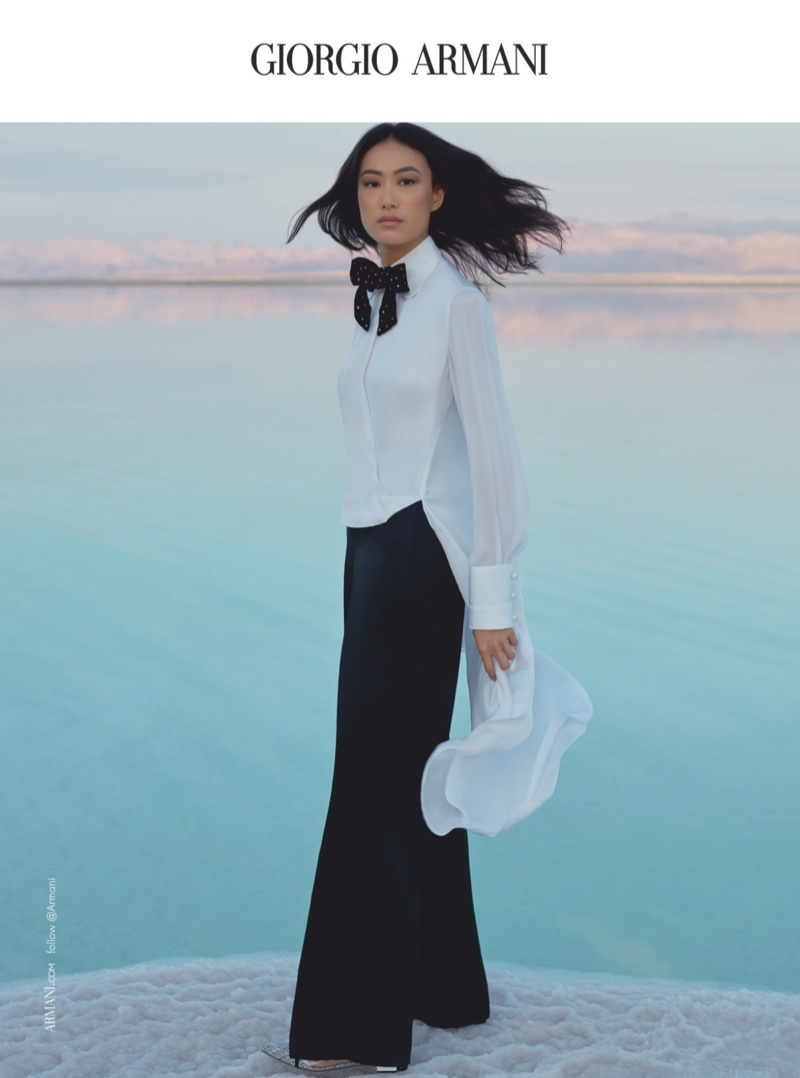 Chinese model Shu Pei appears in Giorgio Armani spring-summer 2019 campaign