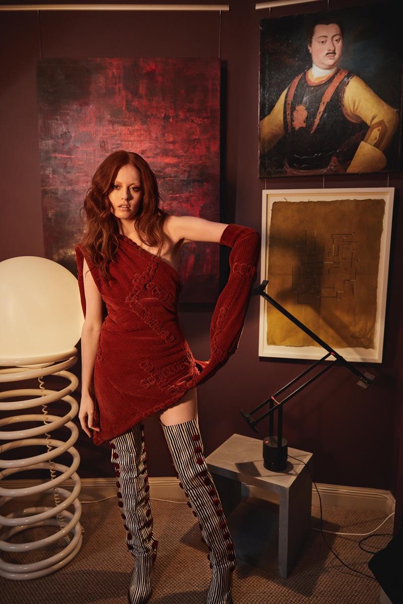 Grace Cairns Models Eclectic Ensembles in L'Officiel Lithuania