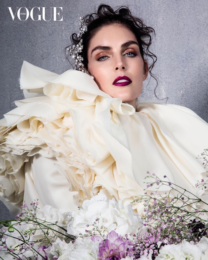 Hilary Rhoda is in Full Bloom for Vogue Arabia