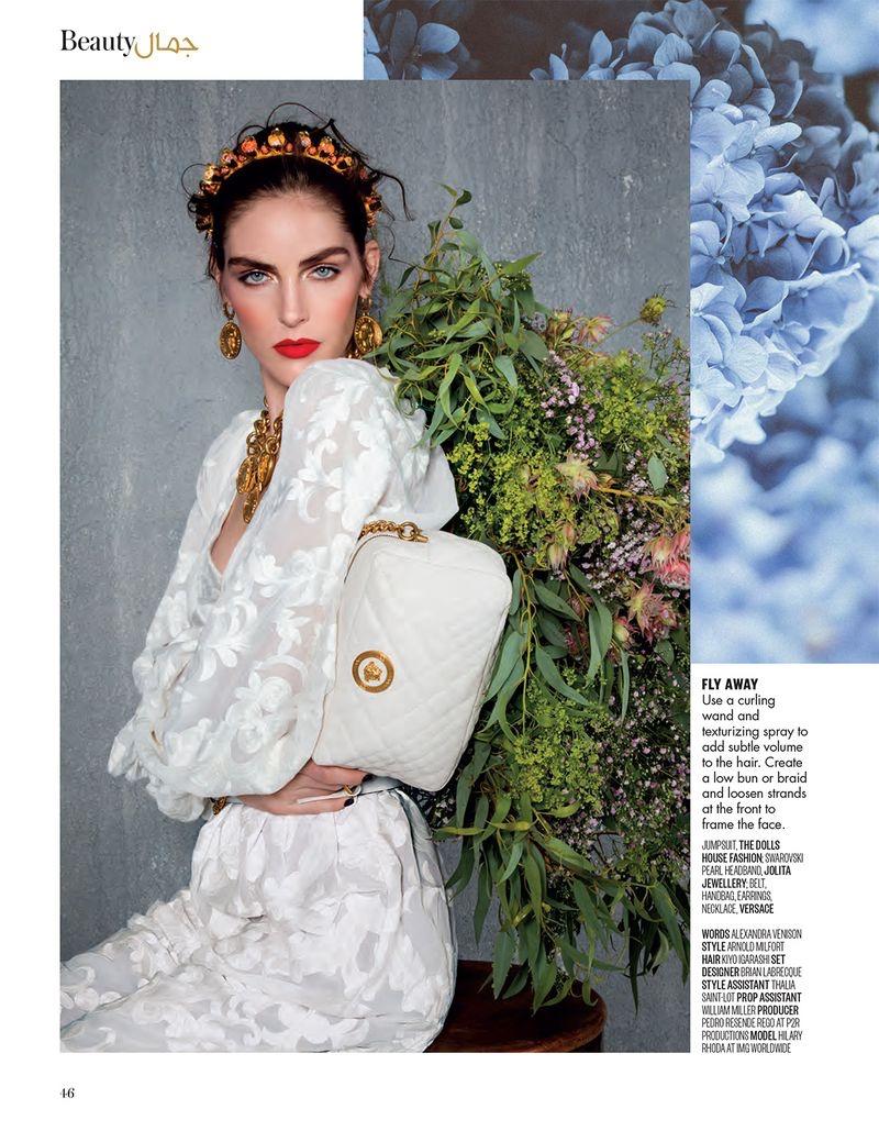 Hilary Rhoda is in Full Bloom for Vogue Arabia