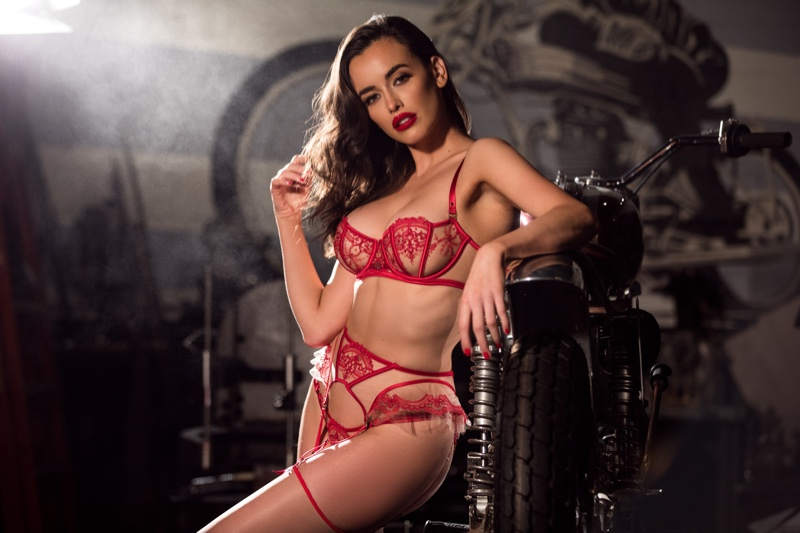 Featuring sexy cutouts, Honey Birdette spotlights its latest lingerie designs for Valentine's Day 2019 campaign