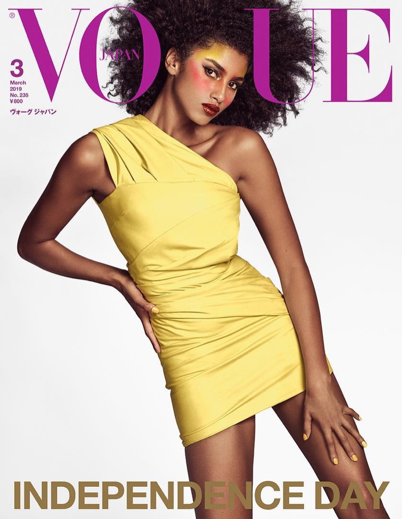 Imaan Hammam on Vogue Japan March 2019 Cover