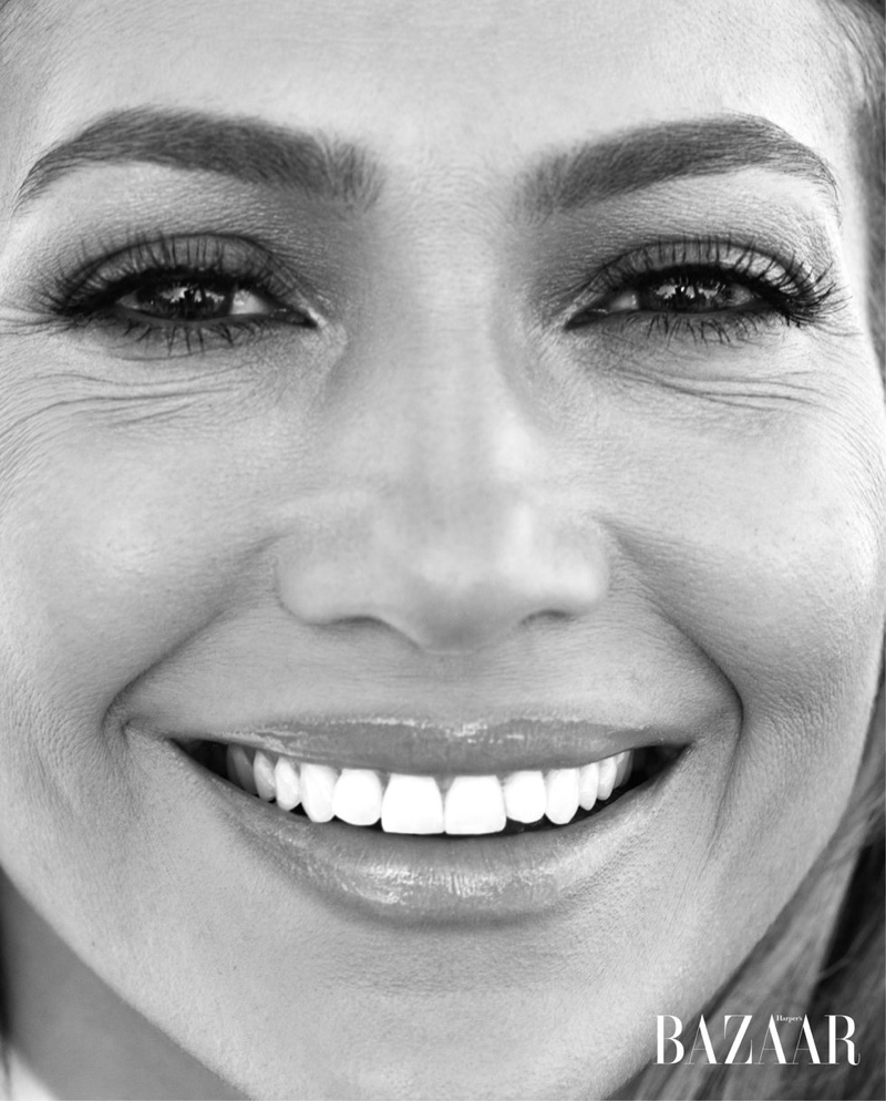Jennifer Lopez flashes a smile in this shot