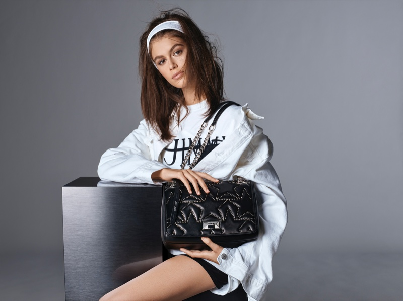 The daughter of Cindy Crawford appears in Jimmy Choo spring-summer 2019 campaign