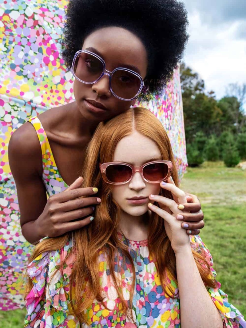 Kiki Layne and Sadie Sink wear sunglasses in Kate Spade spring-summer 2019 campaign