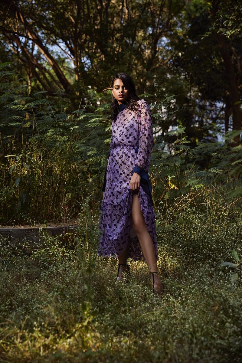 Kiyara Sandhu Poses Outdoors for Grazia India