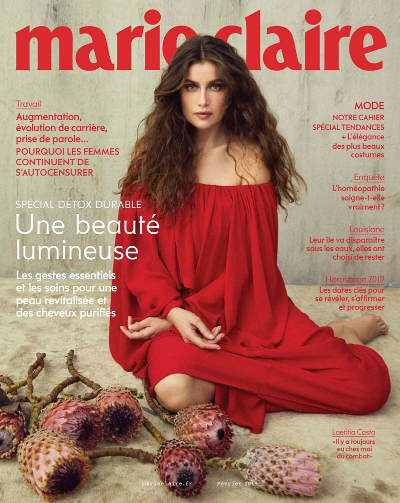 Laetitia Casta Poses in Dreamy Dresses for Marie Claire France