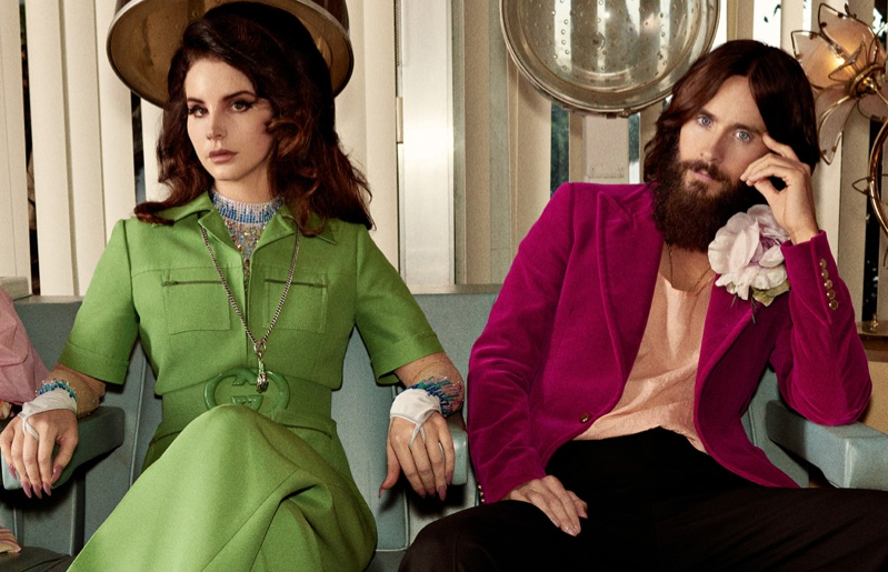 Singer Lana Del Rey and actor Jared Leto front Gucci Forever Guilty campaign