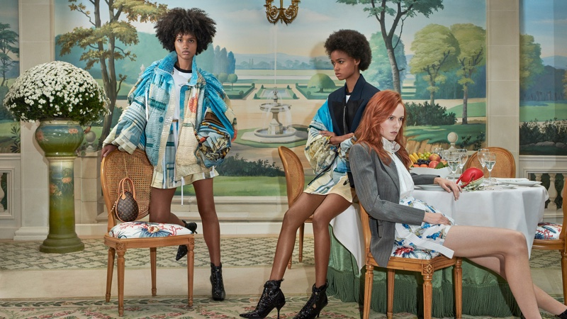 Ambar Cristal Zarzuela, Blesnya Minher and Kiki Willems appears in Louis Vuitton spring-summer 2019 campaign