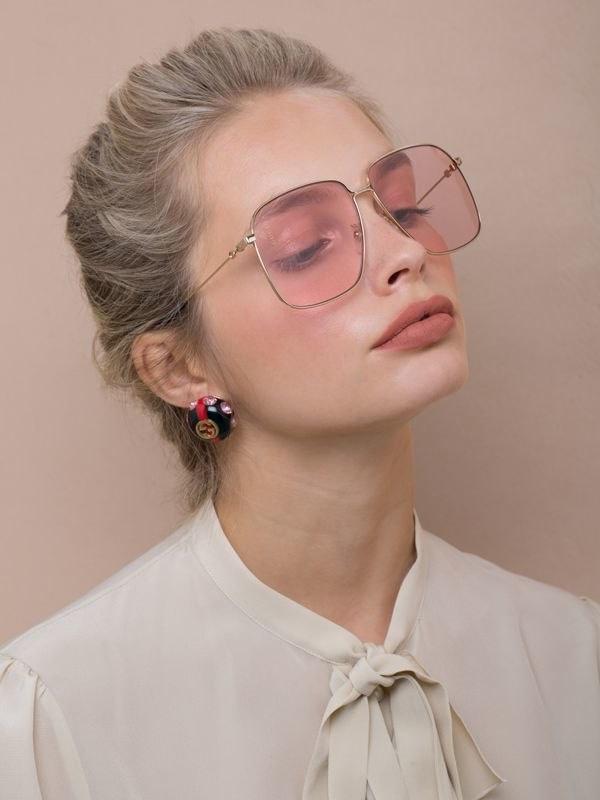 Gucci Pink Large Round Sunglasses $415