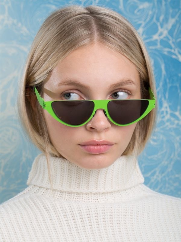 Mykita x Martine Rose Kitt Lime Sunglasses $589