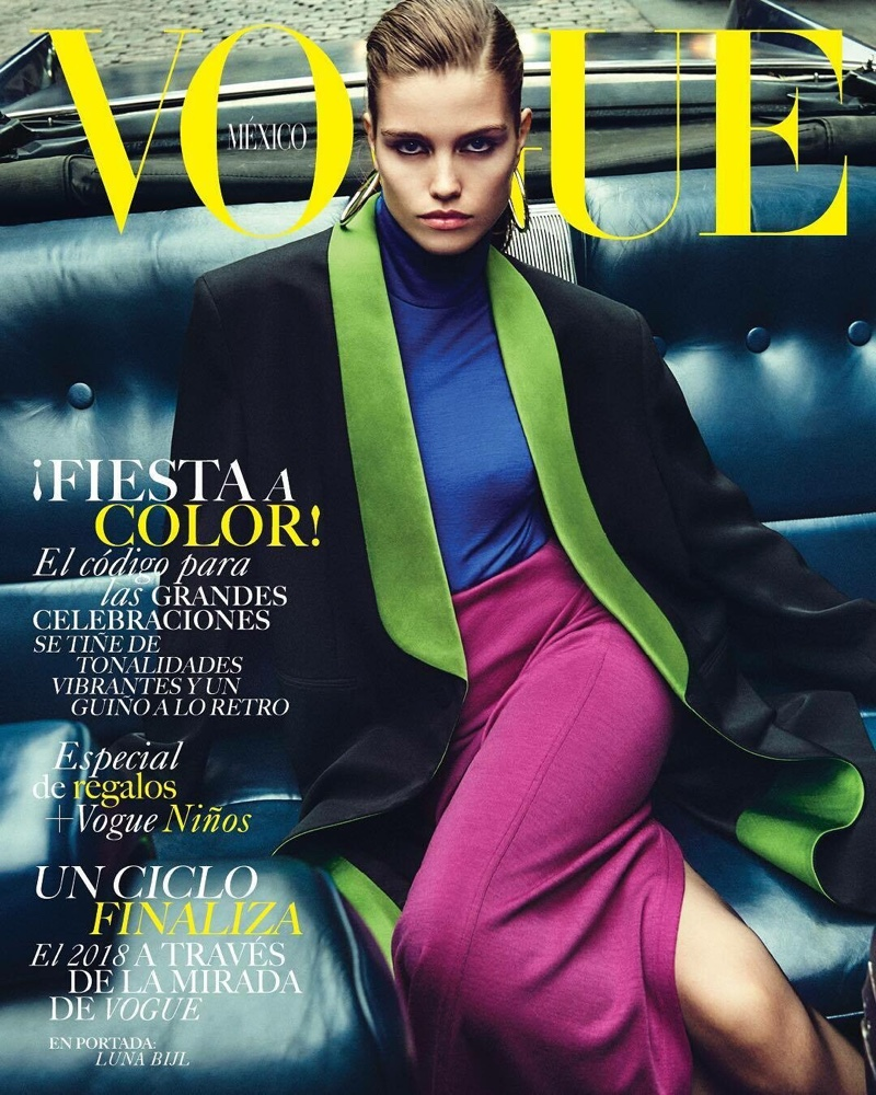 Luna Bijl Poses in Glam Fashions for Vogue Mexico
