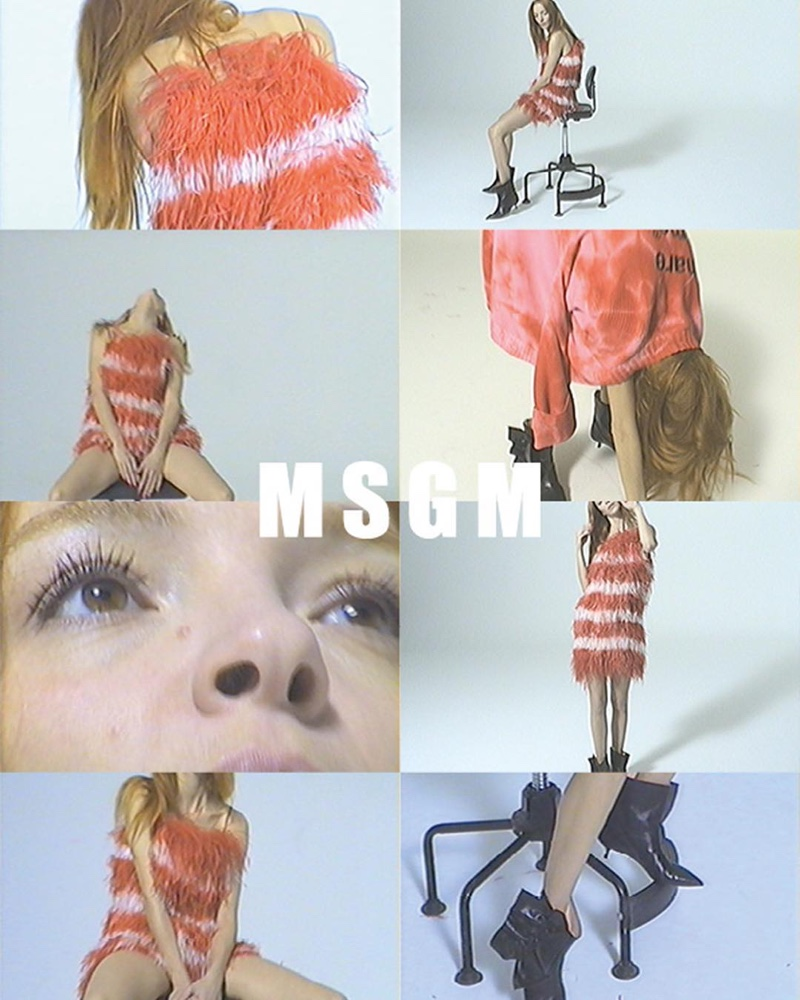 An image from the MSGM spring 2019 advertising campaign