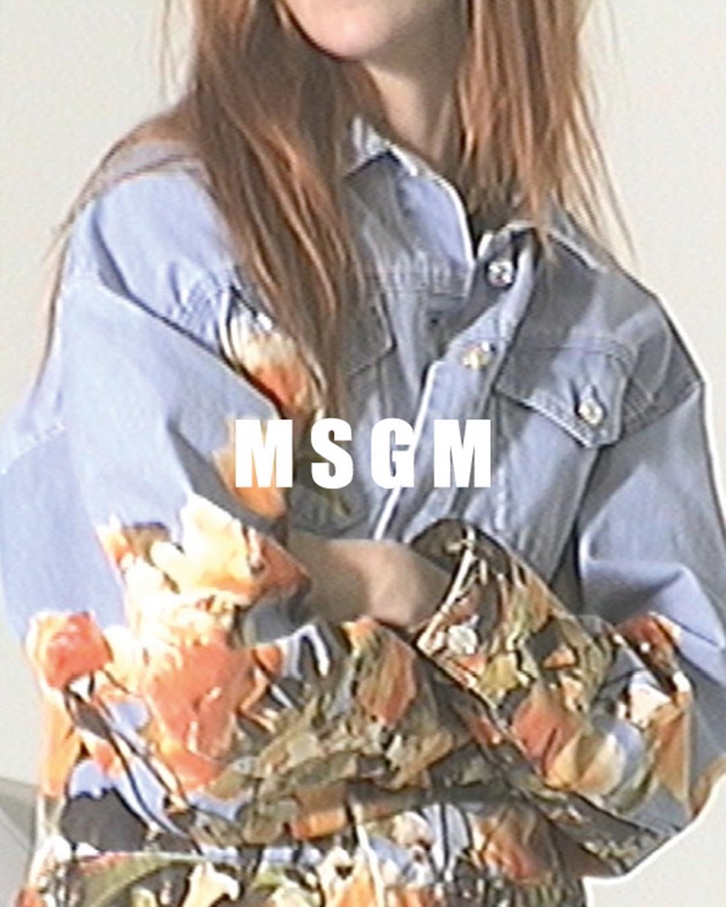 Denim takes the spotlight for MSGM spring-summer 2019 campaign