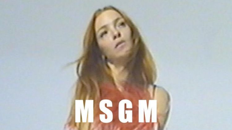 MSGM taps Mariacarla Boscono for its spring-summer 2019 campaign