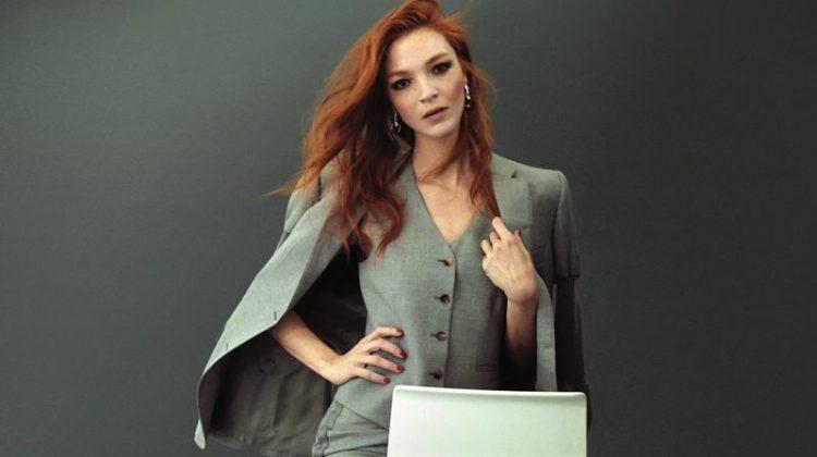 Mariacarla Boscono Charms in Burberry for Vogue Korea